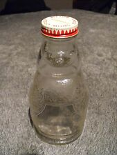 "Snow Crest Seal Glass Bank Very Rare 7 3/8"" Beverage Bank"