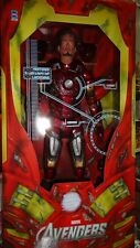 "NECA MARVEL AVENGERS 1/4 IRON MAN MARK VII BATTLE DAMAGED UNMASKED 18"" IRONMAN"