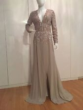 $ 8,270 ELIE SAAB  Beaded Crepe Skirt Gown,size 36(US 4)