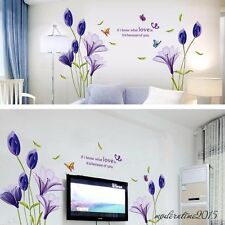 Lily Wall Sticker Modern Home Decor Plant Adhesive Flower Decal for Wall Mural