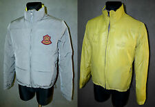 LOVE MOSCHINO Winter Down Jacket Coat Top Puffer Grey Yellow Two Sided 40 M