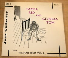 """TAMPA RED AND GEORGIA TOM ~ BLUES 7"""" EP UK JAZZ COLLECTOR SERIES  JEL 3"""