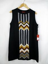 NWT MISSONI for TARGET Sz XL Sleeveless Sweater Dress Black Multicolor Chevron