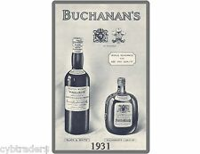Buchanan's Whiskey Ad Refrigerator / Tool Box Magnet  Man Cave Item