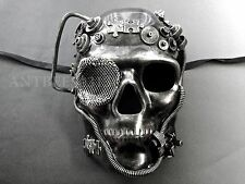 New Steampunk Silver Skull Full Face Style Masquerade Prom Ball Party Mask