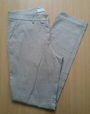 Damen Jeans Chinos Hose BRAX Mia MB-WA Gr 42 W32 L34 beige Stretch Cotton