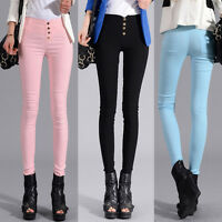 NEW LADIES SKINNY FIT STRETCHY JEANS WOMENS JEGGINGS TROUSERS Pencil Pants 4-18