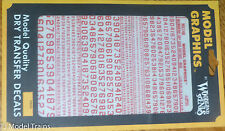 Woodland Scenics #748 Red - Dry Transfer Numbers Only - 45 Degree USA Gothic