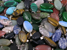 wholesale 100PCS natural stone pendants water drop pendant Charms for Necklaces