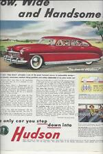 Vintage Hudson, 1948, Step Down, Collier's Advertisement