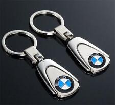 Cool Silver Car Logo Creative Keychain Metal Key Chain Keyring Gift For BMW New