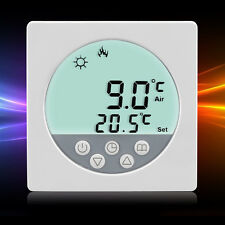 LCD Digital Heating Thermostat Room Temperature White Backlit Controller QT