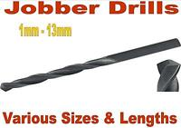JOBBER DRILLS ROLL FORGED HSS DRILL BITS 1mm To 13mm WOOD METAL PLASTIC