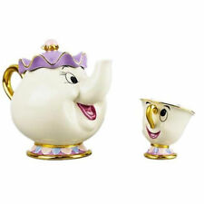 CARTOON LA BELLA E LA BESTIA TEIERE TAZZA Mrs. BRIC Chip Teiera E Tazza Set Nuovo