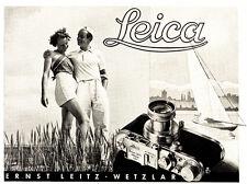 1939 Leica Kamera Segelboot Paar Umarmung 16x12 cm original Printwerbung