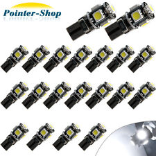 20 X CANBUS ERROR FREE White T10 5SMD 5050 LED Interior Light Bulbs 194 168 12V