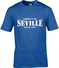Producto de Sevilla España Hombre Camiseta lugar Regalo de Cumpleaños año de elección