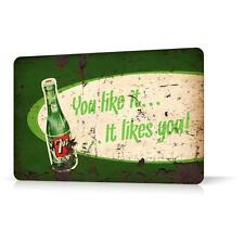 METAL TIN SIGN 7UP SODA Vintage Retro Decor Home Bar Pub Garage Wall Poster Shop