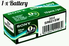1x Sony Watch Battery Cell Button Silver-Oxide 1.55v-364 SR621SW AG-1 364 f.p