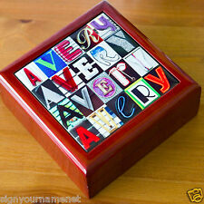 Personalized Keepsake Box Featuring ANY NAME in Letters from Photos of Signs