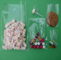 Clear cello cellophane display bags cake pop cookie lollipop party sweets candy