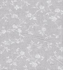 """108"""" WIDE 100% COTTON QUILT BACKING Per Yard: WHITE ON WHITE ROSE VINE 42250WW"""
