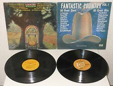 COUNTRY MUSIC Lote 2xLP Country Jukebox & Fantastic Country