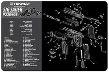 Sig Sauer P238 Armorers Gun Cleaning Bench Mat Exploded View Schematic NEW !
