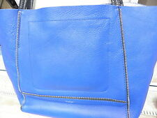 Botkier Soho Tote cobalt blue with silver zipper and inner metallic silver EUC