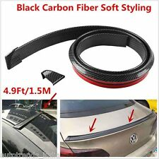4.9ft/1.5M Universal Samurai Carbon Fiber Car Rear Roof Trunk Spoiler Wing Lip S
