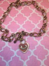 Juicy Couture Gold Heart Charm Necklace Authentic