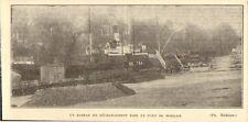 29 MORLAIX UN BATEAU EN DECHARGEMENT IMAGE 1929 OLD PRINT