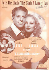 """KNICKERBOCKER HOLIDAY Sheet Music """"Love Has Made This A Lovely Day"""" Nelson Eddy"""