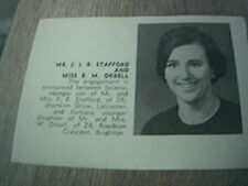 ephemera 1967 picture sussex engagement j j b stafford miss b m orbell leicester