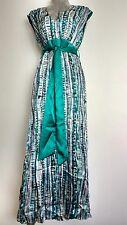 BETTY JACKSON. BLACK maxi Silk dress size 14 --MINT-- green party gala cruise