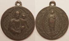 Médaille Religieuse, Marie & Jésus, 19° siècle !!
