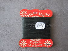 R471 Mercerie vintage ancienne carte FIL DE LIN N°40 vert forestier Thread Card