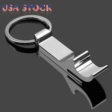 25 Pcs Bottle Opener Key Ring Chain Keyring Keychain Metal Beer Bar Tool Claw US