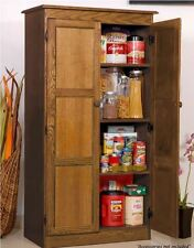 Storage Cabinet for Kitchen Country Cupboard Pantry Oak Home Office Filing Food