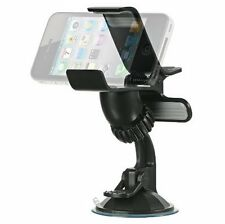 Cell Phone Windshield Dashboard Clamp Car Mount Holder for Samsung Galaxy S6 S5