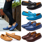 Fashion Mens Casual Suede Leather Loafers Slip On Flat Mocassins Driving Shoes