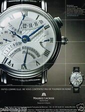 Publicité advertising 2006 Montre Masterpiece Maurice Lacroix