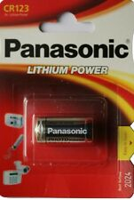 1 BATTERY PANASONIC CR123 3V LITHIUM CAMERA PHOTO 123A DL THE CR123AP