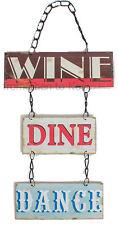 Vintage wine cenar danza encadenado Colgante Signo De Placa de Puerta de Pared de Metal Retro Diversión