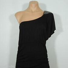 GRACIE Discovery One Shoulder Beads Embelished Bodycon Dress, size L (NEW)