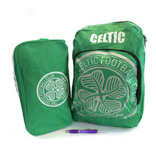 Back to School with Celtic FC Backpack And Boot Bag Plus FREE Pen
