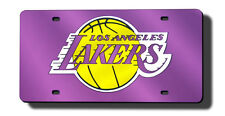 Los Angeles Lakers Purple Laser-Cut License Plate [NEW] Metal Car Auto NBA CDG