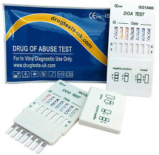 5 x DRUG USE TESTING KIT - TEST FOR 7 DRUGS IN 1 PANEL TEST TESTS @ HOME OR WORK