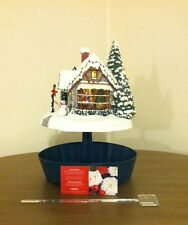 Thomas Kinkade Stillwater Christmas Lighted Cottage by Teleflora 2005 RETIRED