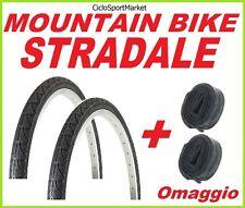 """2 x Copertoni 26"""" x 1.50 SLICK bici Mountain Bike  + 2 x CAMERA D'ARIA OMAGGIO"""